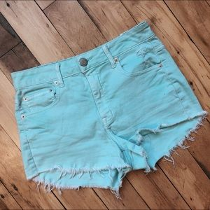 Light Blue American Eagle Shorts High Waisted